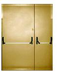 Противопожарная двупольная металлическая дверь ei 90 с антипаникой и push bar на обе стороны